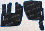 Renault Premium 2000 - ворсові килимки (сірий-синій) ЛЮКС, фото 2
