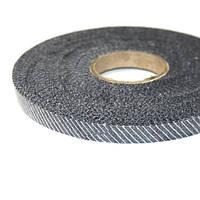 Флизелин нитепрошивной резаный по косой чёрный 1,0см (70м)