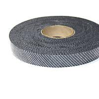 Флизелин нитепрошивной резаный по косой чёрный 1,5см (70м)