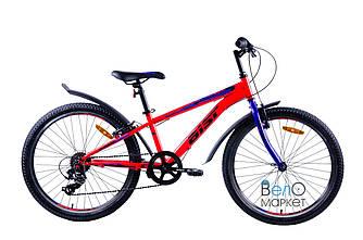 """Велосипед AIST ROCKY JUNIOR 1.0 24"""", підлітковий, червоний/синій"""