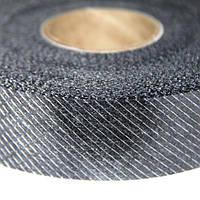 Флизелин нитепрошивной резаный по косой черный 3см (70м)