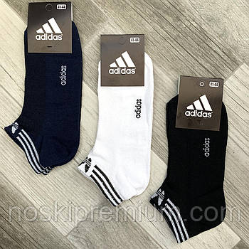 Носки мужские спортивные х/б с сеткой Adidas Athletic, размер 41-44, короткие, ассорти,12609