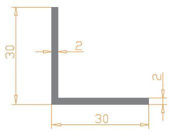 Алюминиевый угол 30х30х2