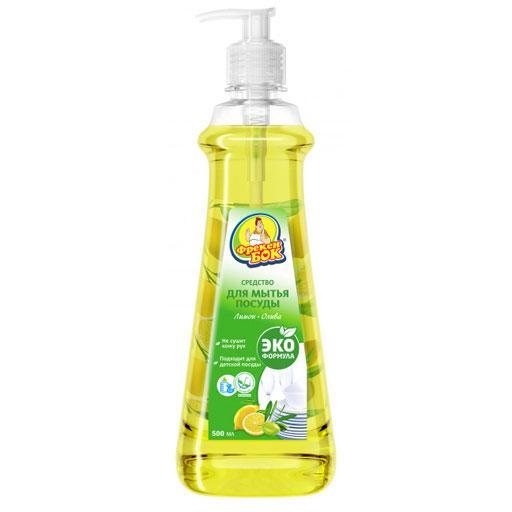 Эко Средство Для Мытья Посуды Фрекен БОК Лимон И Олива 500 Мл (4823071624618)