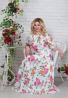 Женское летнее платье из шифона
