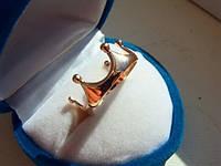 """Золотое кольцо """"Корона"""" без камней 585 пробы женское"""
