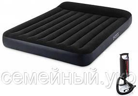 Надувная кровать 203х183х25 см с подголовником.Плотность 0.50 мм. Intex 64144