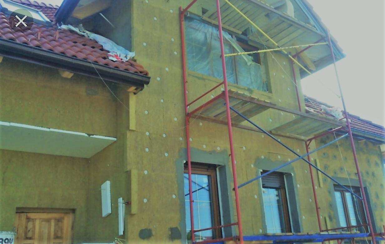 Утепления фасадов. Строительные работы.б
