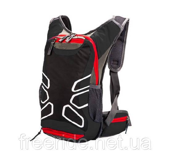 Рюкзак спортивный велосипедный Fleap (15л) красно-черный