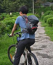 Рюкзак спортивный велосипедный Fleap (15л) красно-черный, фото 2