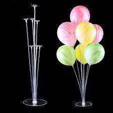 Пластиковая подставка на 7 воздушных шаров.Высота: 70см. Пр-во: Китай,