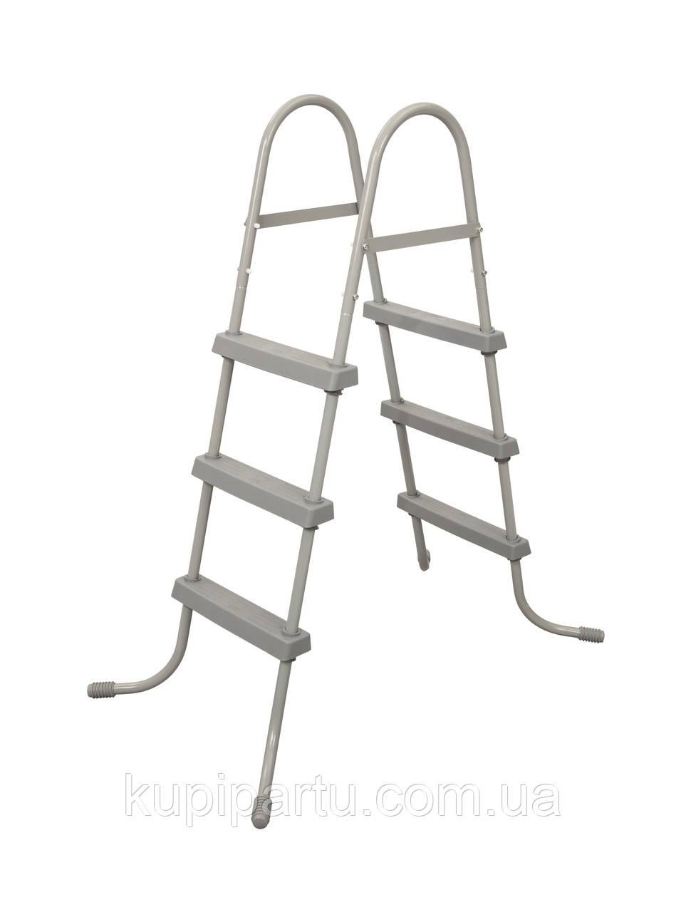 Bestway 58334 Лестница для бассейнов 91см, 3 ступеньки, без площадки