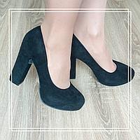 Туфли Mengting XX40-1 черная замша, фото 1