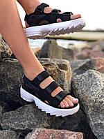 Сандали женские Fila disruptor sandal. Босоножки  Fila disruptor черного цвета., фото 1