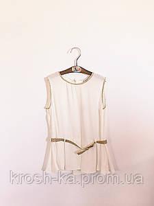 Блуза для девочки без рукав  Santigo 164р KifKids Турция молочный 34011