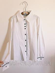 Блуза школьная для девочки (158 размер) A-yugi Турция белая 1579