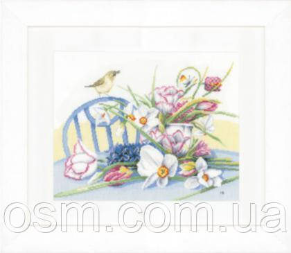 "PN-0146980 Набор для вышивки крестом LanArte ""Daffodils on table"" Нарциссы на столе"
