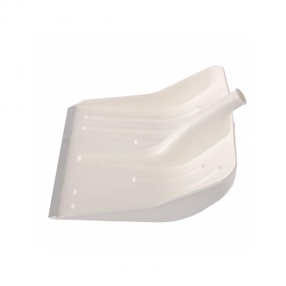 Лопата снеговая белая, 400 х 420 мм, без черенка, пласт., Алюм. окантовка // СИБРТЕХ