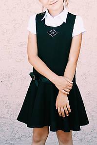 Сарафан школьный для девочки Волан Kinder Украина чёрный 0288
