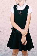 Сарафан школьный для девочки Волан Kinder Украина чёрный габардин 0029