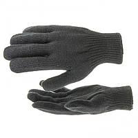 Перчатки трикотажные, акрил, цвет: черный, оверлок, // СИБРТЕХ 68651