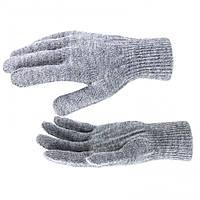 Перчатки трикотажные, акрил, цвет: серый мулине, двойная манжета, // СИБРТЕХ 68674