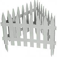 "Забор декоративный ""Рейка"", 28 х 300 см, белый. PALISAD"
