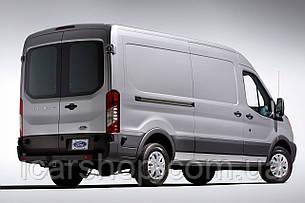 Скло Ford Transit 14 - L3 тил лівий з електро обігрівачем SafeGlass