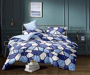 Комплект постельного белья семейный из сатина Небесные соты 150х220 см