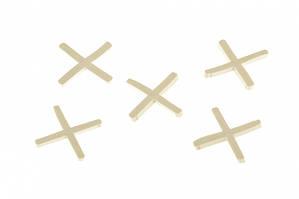 Крестики, 1,5 мм, для кладки плитки, 100 шт .// СИБРТЕХ