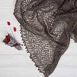 Палантин Морозные узоры. Ромбы П-01157, серый, оренбургский шарф (палантин), фото 3