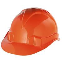 Каска защитная из ударопрочной пластмассы, оранжевая // СИБРТЕХ