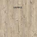 Стол обеденный Слайдер Белый/ ДУБ ШЕРВУД, 81,5(+81,5)*67см, фото 2