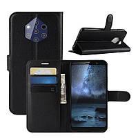 Чехол Luxury для Nokia 9 PureView книжка черный