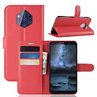 Чехол Luxury для Nokia 9 PureView книжка красный