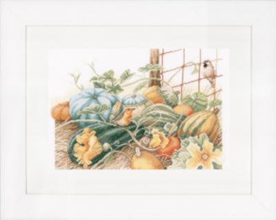"""PN-0147538 Набор для вышивки крестом LanArte Pumpkins """"Тыквы"""""""