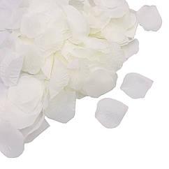 Штучні пелюстки троянд білі