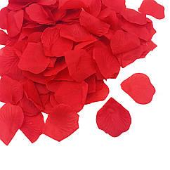 Искусственные лепестки роз красные