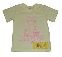 Детская футболка для девочки со слоненком Габби лимонная