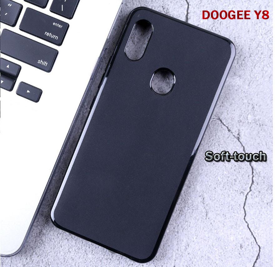 Чехол-бампер силиконовый с матовым Soft-touch покрытием для DOOGEE Y8 / Стекла защитные на дисплей в наличии /
