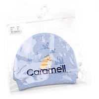 Шапочка для хлопчика 'Caramell' (Зріст 50-56, Блакитний)