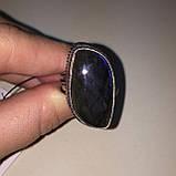 Ультра-синий лабрадор натуральный кольцо лабрадор в серебре. Кольцо с лабрадором 17 размер Индия!, фото 6