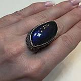 Ультра-синий лабрадор натуральный кольцо лабрадор в серебре. Кольцо с лабрадором 17 размер Индия!, фото 5