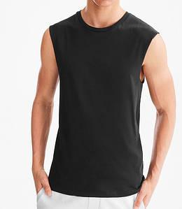 Хлопковая черная чистая мужская безрукавка С&A оригинал  48 размер