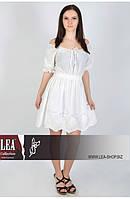 Платье женское белое короткое с кружевом, фото 1