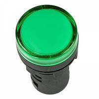 Лампа AD-22DS LED-матрица d22мм зеленый 110В AC/DC