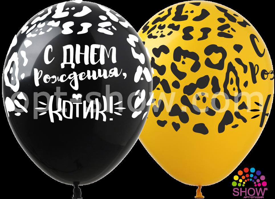 Воздушные шары С Днём Рождения Котик (5 ст)