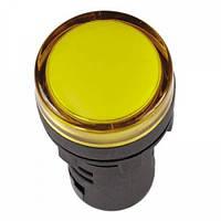 Лампа AD-22DS LED-матрица d22мм желтый 220В AC/DC