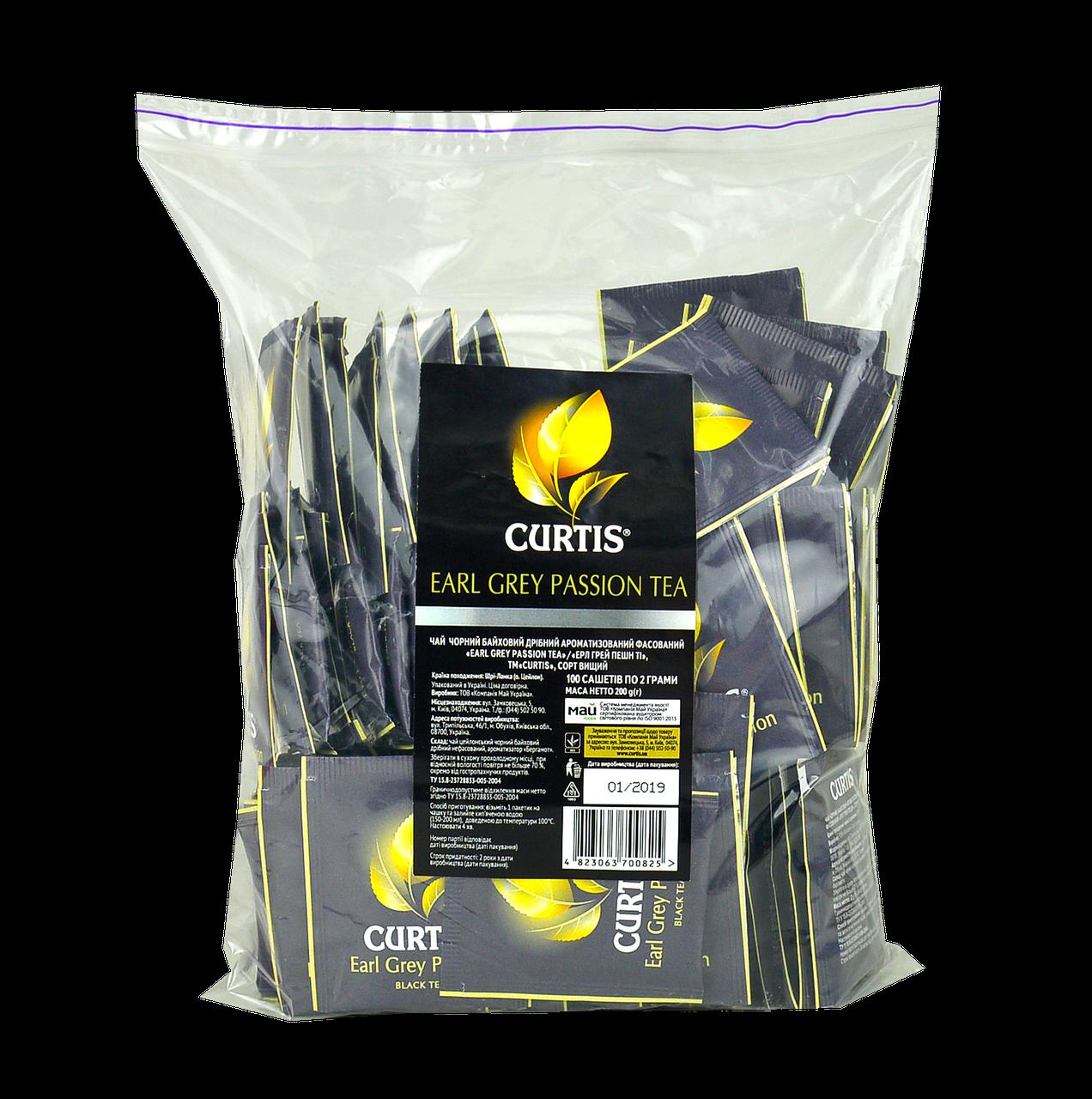Чай CURTIS Бергамот (Earl Grey Passion Tea) 100шт (мягкая упаковка)