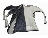 Шапка для сауны АРЛЕКИН  (комбинированный войлок)